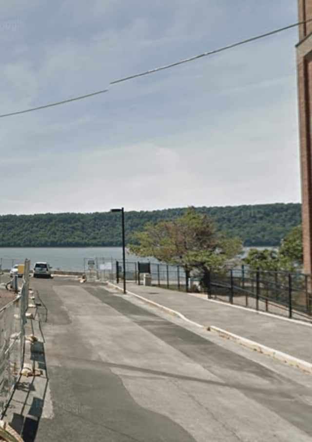 The Hudson River near Water Grant Street in Yonkers.