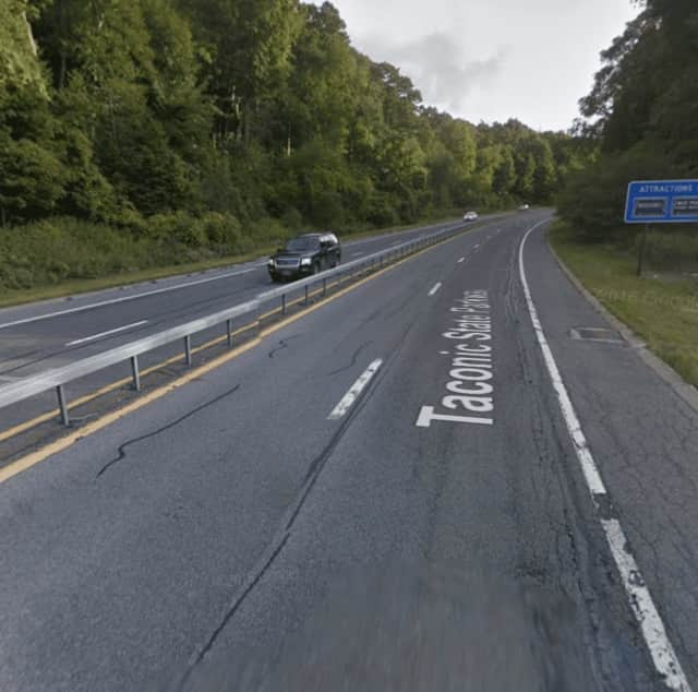 The Taconic State Parkway north of Route 301.