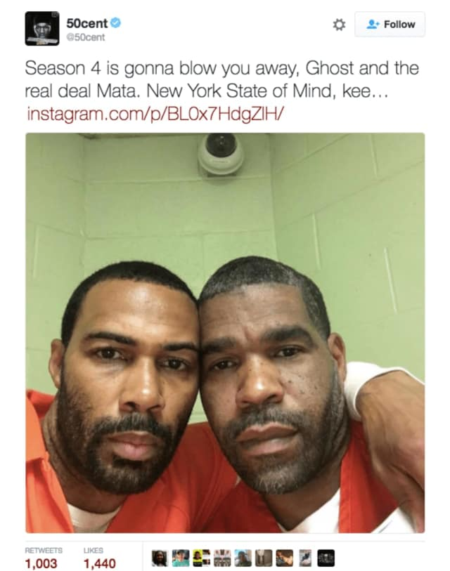 "Westchester officials are investigating how actor Omari Hardwick, left, was able to pose in this selfie with Matthew ""Mata"" Draper, right, a Haverstraw resident and inmate in the Westchester County Jail."