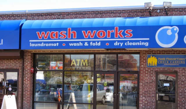 Police responded to a theft Sunday morning of an ATM machine at Wash Works Laundromat in Stamford, according to the Stamford Advocate.