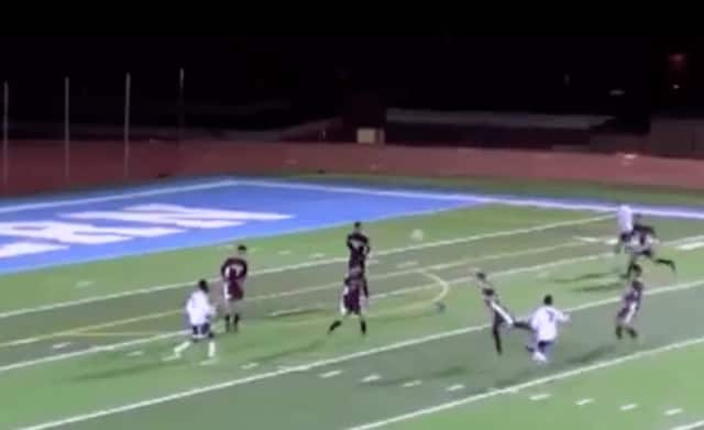 This goal scored by Suffern's Myles Solan was featured on the SportsCenter Top 10 plays.