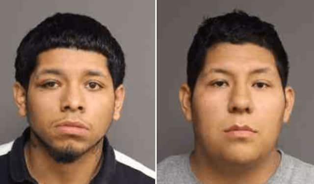 Oscar and Jose Aquilar, arrested on felony drug possession charges.
