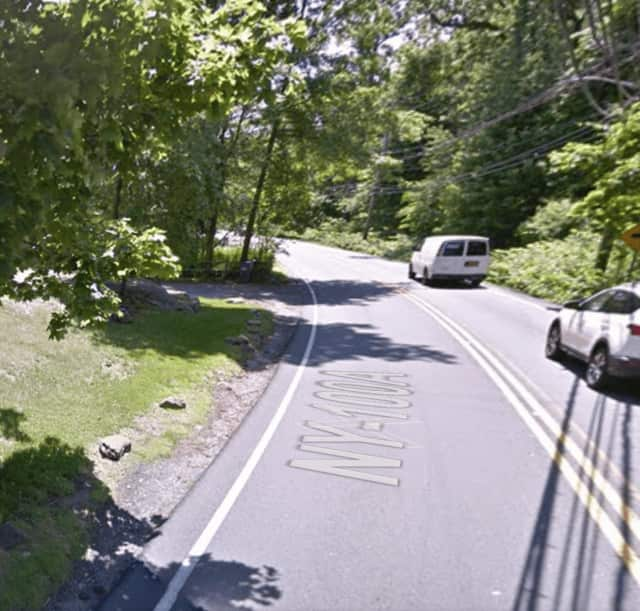 The crash occurred in this area at around 2:15 p.m. Friday near a residence at 313 West Hartsdale Avenue