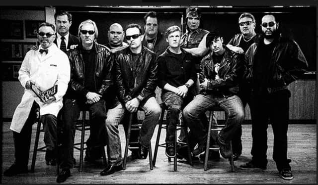 The cast in part, from left, Tom Golden, Laurent Mullen, Neal Smith, Victor Mercado, Alex Ziwak, Ken Walsh, Jeff Saresky, John Gatto, Mike Ziniak, Tommy DeLaurentis and Alberto Lopez.