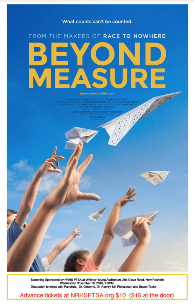 """Beyond Measure"" will be shown at New Rochelle High School."