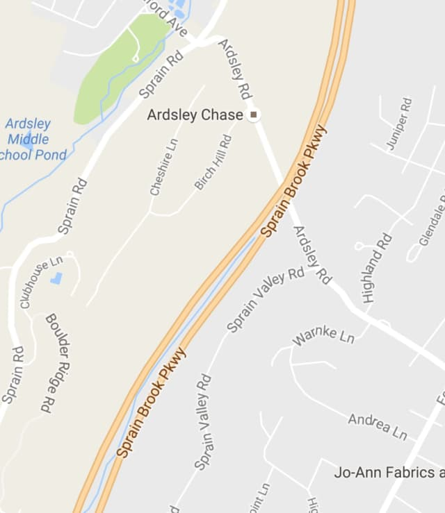 Ardsley Road between Sprain Valley Road and Sprain Road in Greenburgh.