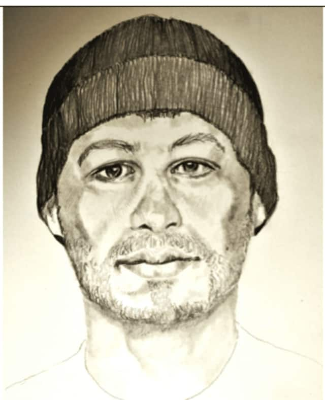 Sketch of a suspect in a groping case in Stamford.