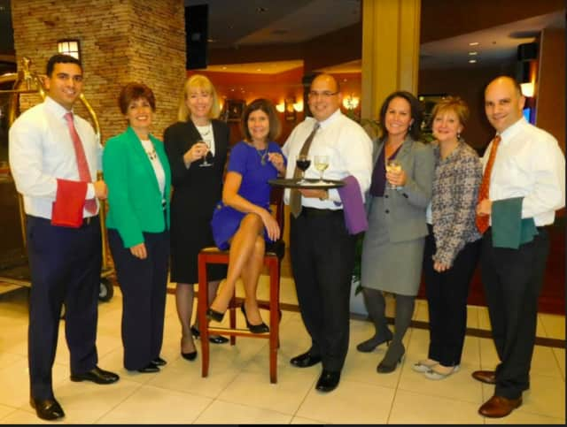 Participants from Union Savings Bank's Ridgefield Solutions Team - from left, Jose Diaz, Jr, Rhonda Leone, Jill Maguire, Patty Dyer, Vinny DiGilio, Jen Tomaino, Jo-Anne Smith and Jason Ginsberg.