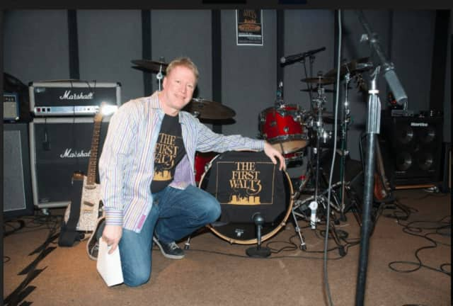 Wilton resident Andy Schlesinger at his recording studio