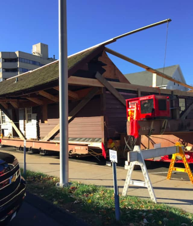 The lower section of the Hoyt-Barnum House was to be moved Monday night after failed attempts to move it Sunday. There were road closures and detours planned as it traveled up High Ridge Road.