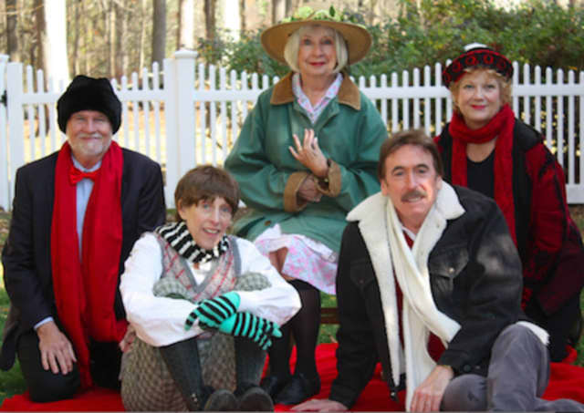 """The cast of Theatre Artists Workshop's performance of """"Holiday Memories"""" includes, from left, Granville Burgess of Greenwich, Katie Sparer of Stratford, Jo Anne Parady of Southport, Mark Basile of Weston and Melody James of Westport."""
