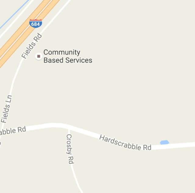 The fire is on Hardscrabble Road, just east of I-684.