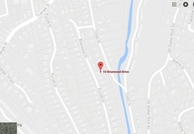 A water main has broken in front of 10 Briarwood Drive in Danbury.