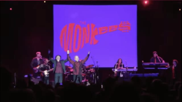 Micky Dolenz and Peter Tork of The Monkees.