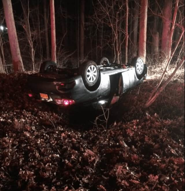The single-vehicle crash occurred early Sunday evening on Route 129 near East Mount Airy Road in Croton-on-Hand.