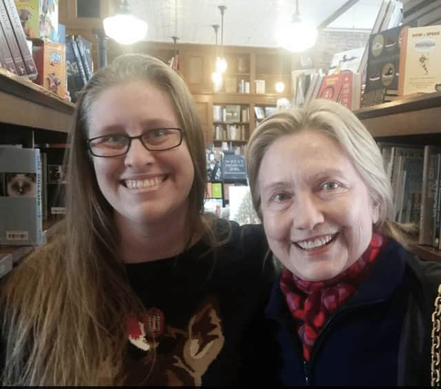Jessica Wick, an employee of The Savoy Bookstore in Waverly, R.I., wrote on her Facebook page of meeting Hillary Clinton, and husband, Bill, in late November. The former first couple were warm, gracious and kind, Wick said.