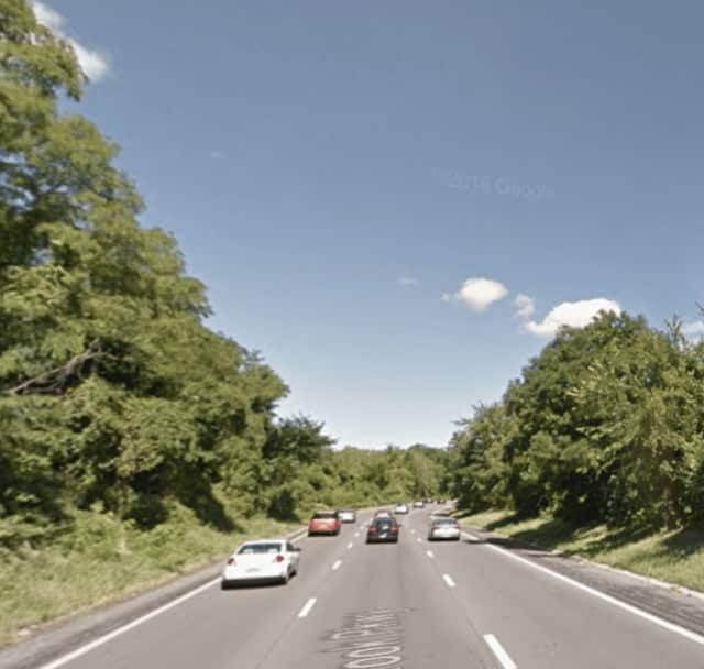 The northbound Sprain Brook Parkway near Jackson Avenue in Yonkers.