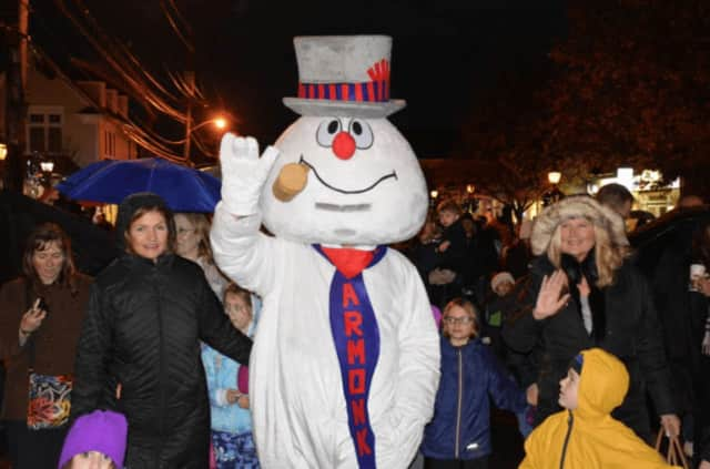 Armonk celebrated its annual Frosty Days in style on Sunday with a special visit by hometown hero Frosty the Snowman.