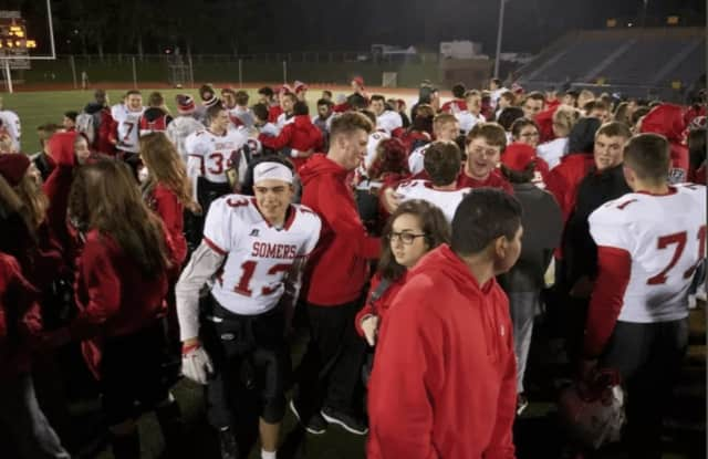 The state football champions from Somers High School will be honored along with other state champions from the school with a parade on Saturday, Dec. 10.