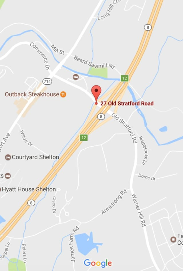 A crash was reported Saturday on Route 8 northbound near Exit 12 in Shelton.