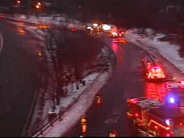The closure at the I-287 eastbound ramp to I-95.