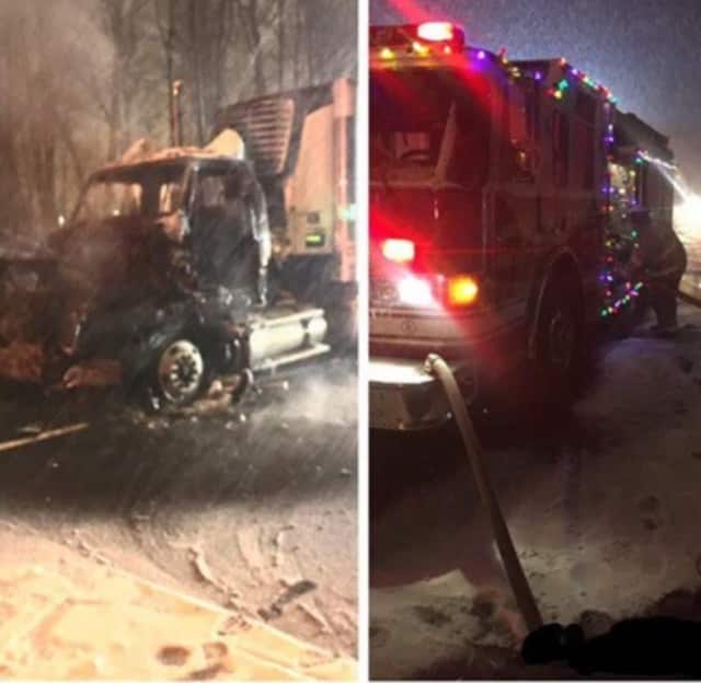 Firefighters from Echo Hose Hook & Ladder knocked down a truck fire early Saturday on Route 8.