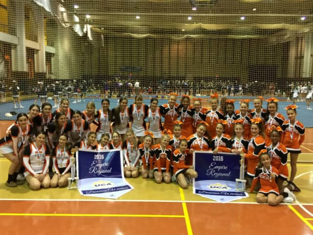 The Tuckahoe Tigers Cheerleaders took top honors at the Empire Regionals in Long Island and head to the Nationals in Florida.