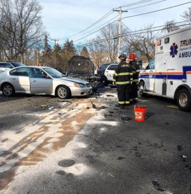 Long Hill Fire Department rushed to a motor vehicle accident early Wednesday morning.