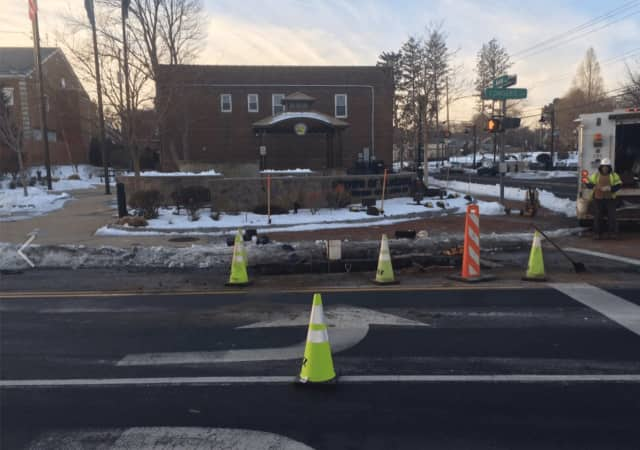 A water main break has resulted in the closure of a stretch of Congers Road in New City on Wednesday morning.