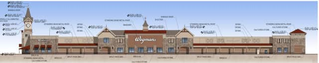 Wegmans's renderings and formal development plans submitted o the Harrison Planning Board