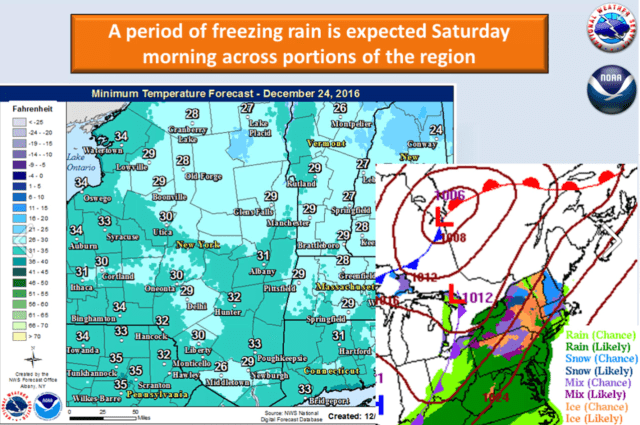 A look at parts of the area where the wintry mix is expected.