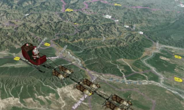 Santa will have delivered billions of gifts already throughout the world before arriving in the area, according to noradsanta.org.