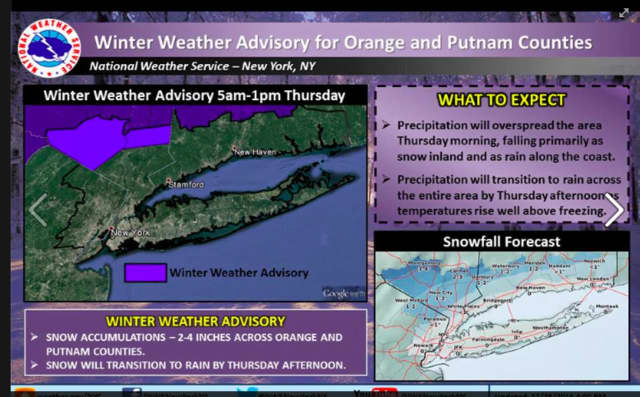 More info on the Winter Weather Advisory.