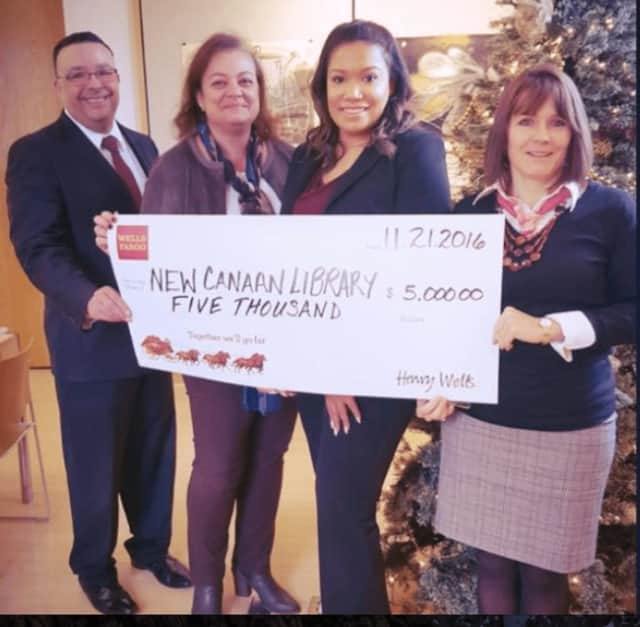 New Canaan Library received a $5,000 grant from Wells Fargo to support much needed upgrades.