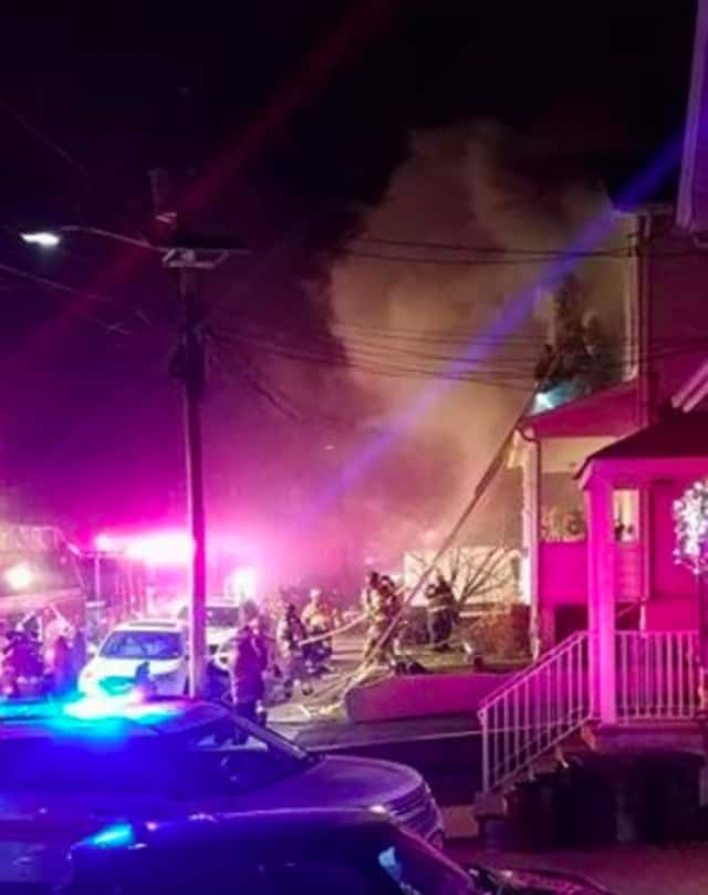 Several area fire departments battled an East Rutherford blaze New Years Eve.
