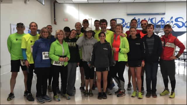 Members of the Woodbridge Running Group who took part in the  30th annual New Year's Day Brookfield Lions Run for Sight 4-Miler on Sunday, Jan. 1.