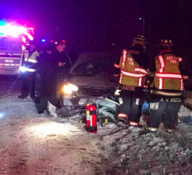 A two-car collision occurred early Saturday evening on Route 9 in Croton.