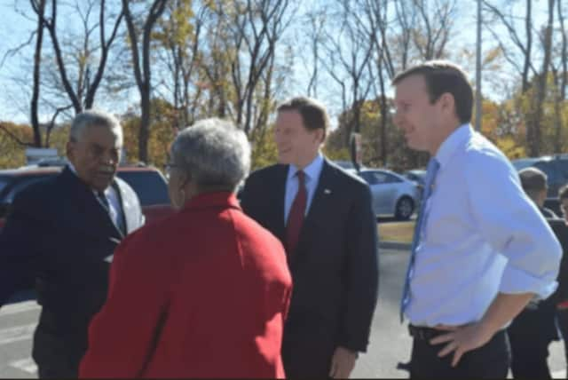 Connecticut Senators Chris Murphy, right, and Richard Blumenthal, second from right, congratulated incoming President Donald J. Trump but also asked the new President to stop personal attacks.