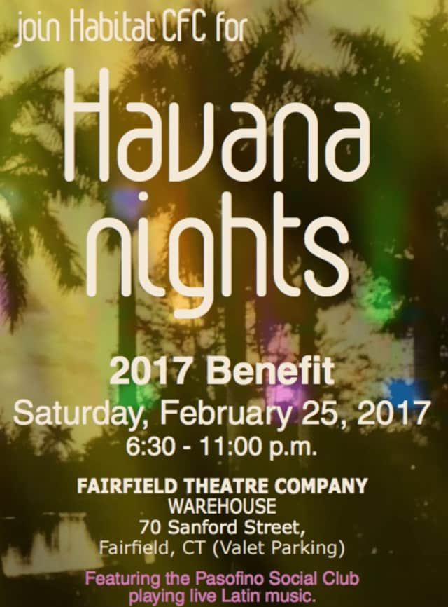A fundraiser for Habitat for Humanity of Coastal Fairfield County will be held on Saturday, Feb. 25, at the Fairfield Theatre Company warehouse in Fairfield.