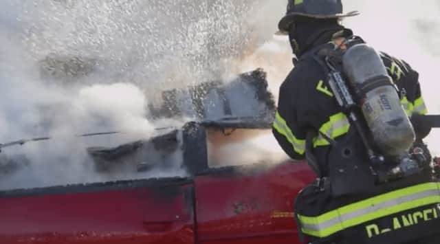 Students at Sacred Heart University created a public service announcement for the Fairfield Fire Department.
