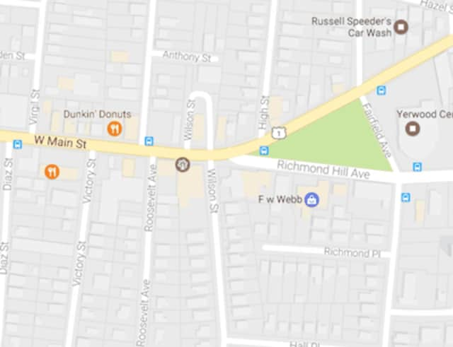 Stamford Police are looking for the driver who fled a hit-and-run accident at the intersection of West Main Street and Richmond Hill Avenue that sent a man to the hospital with serious injuries early Sunday morning.