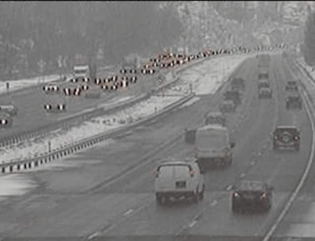 A look at conditions on I-87 in Rockland just after 4 p.m. Tuesday.