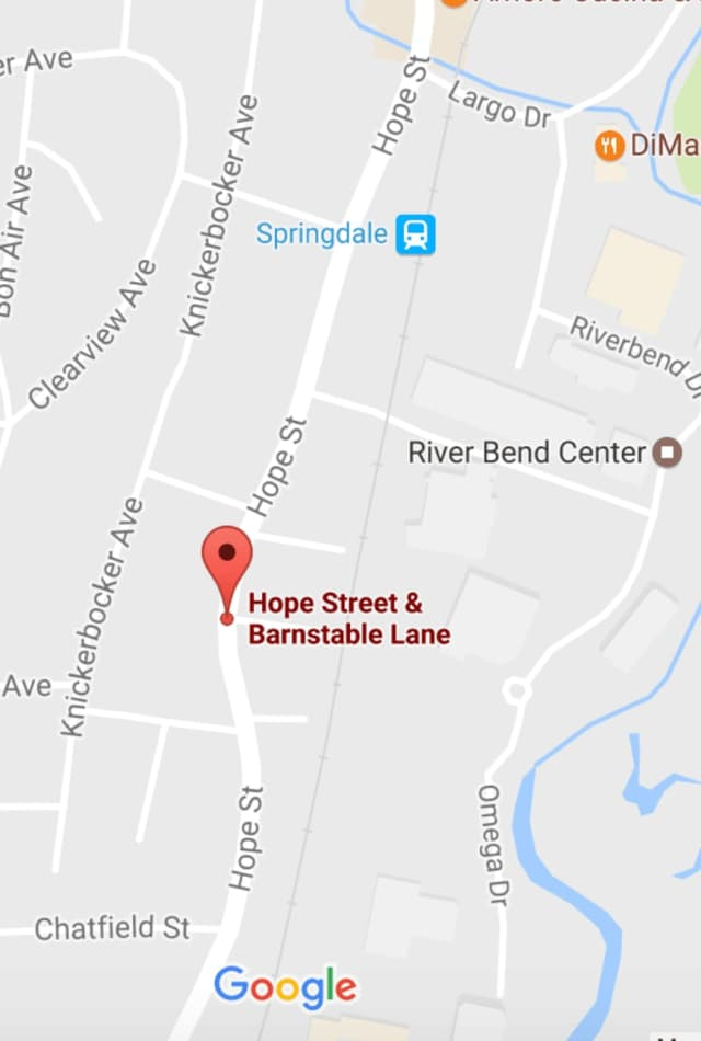 The fatal accident occurred at Hope Street and Barnstable Lane near the Springdale train station.