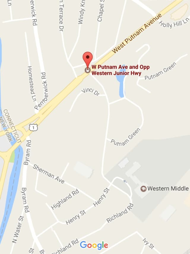 The pedestrian was hit on West Putnam Avenue/Route near Western Jr. Highway, which is near the New York border.