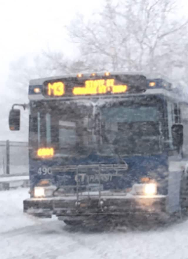 CTTransit has suspended bus service Thursday because of the heavy snow.