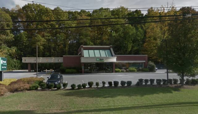 The TD Bank in Scarsdale was robbed Friday by a man wearing all black.