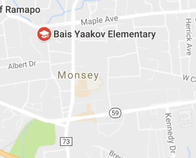 Authorities found a substance that may be asbestos at Bais Yaakov Elementary School.