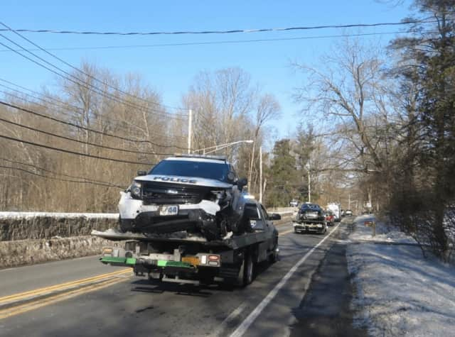 A Mount Pleasant police officer was involved in a crash with another vehicle on Bedford Road on Tuesday.