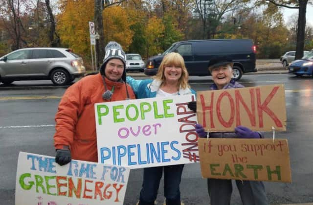 A protest by Stamford Stands With Standing Rock is planned for Friday.