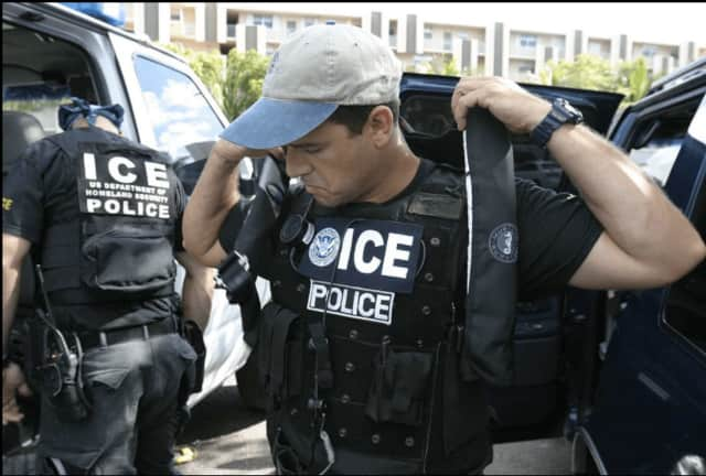 U.S. Immigration and Customs Enforcement officers.